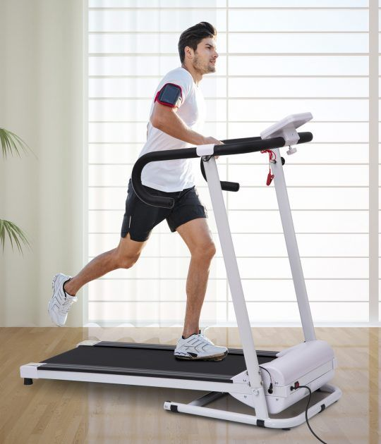 Cinta de Correr Plegable Exercise Bike White