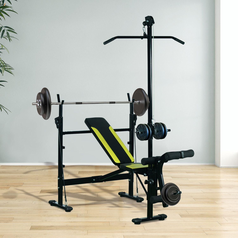Jolitec® Banco de Pesas Reclinable Multifunción para Entrenamiento y Musculación