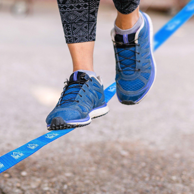 Jolitec Kit Slackline con Cinta Carraca y Protector de Árbol para Escalada y Deportes