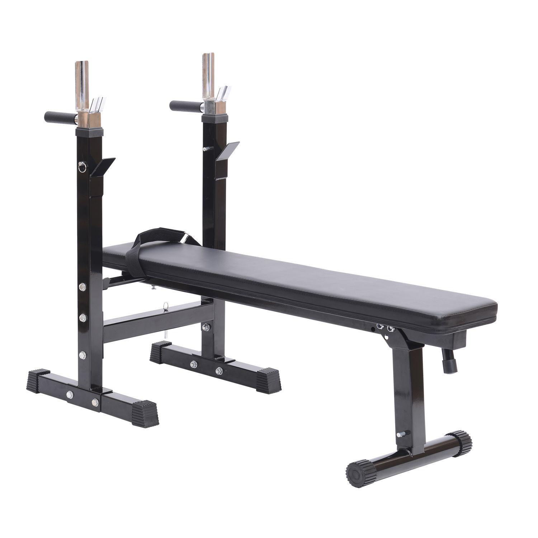 Jolitec® Banco de Pesas Plegable Máquina de Musculación Multifunción Negro