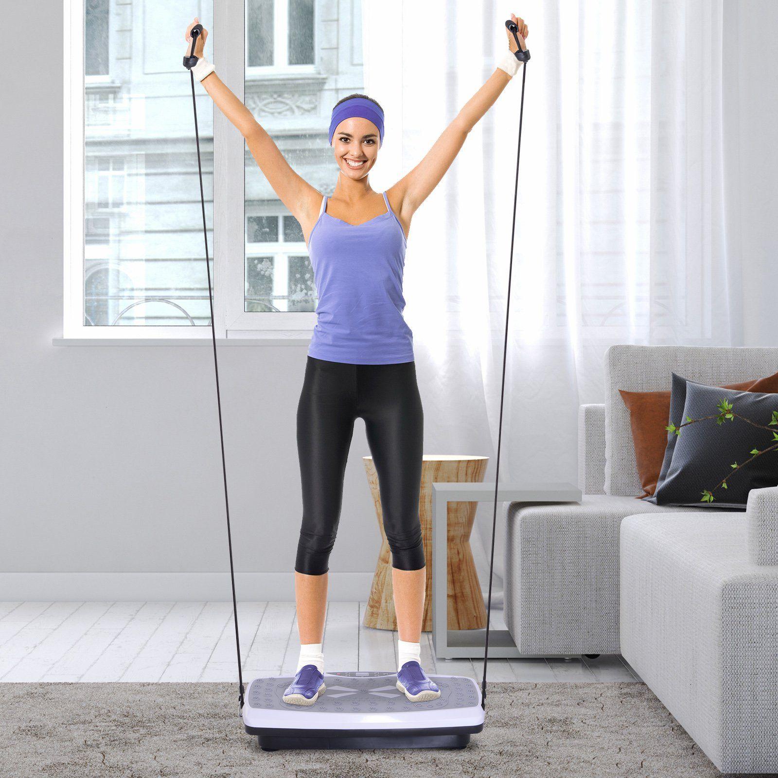 Jolitec® Plataforma Vibratoria  para Fitness Entrenamiento 2 Bandas Elásticas