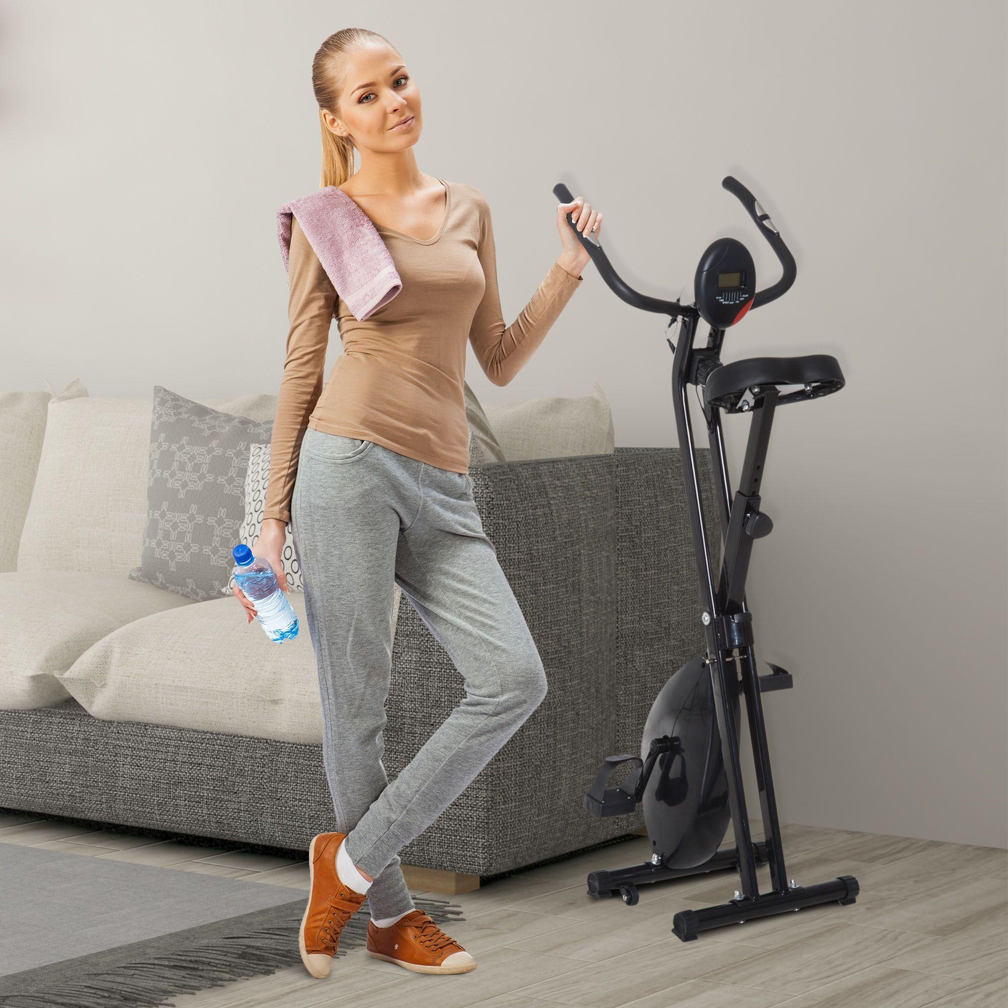 Jolitec® Bicicleta Estática Plegable Bicicleta Magnética Xbike
