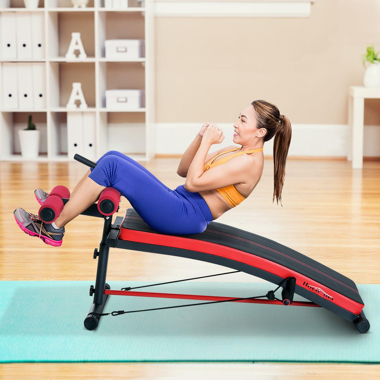 Jolitec® Banco de Musculación  Abdominal y  Brazos Multifunción