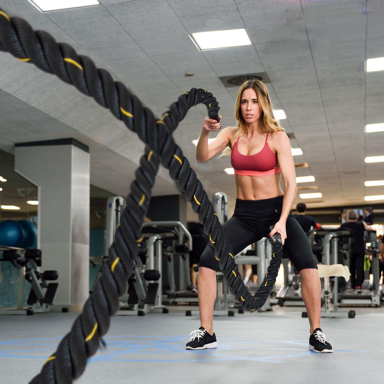Jolitec Cuerda de Batalla Battle Rope de Fitness y Crossfit 12 Metros