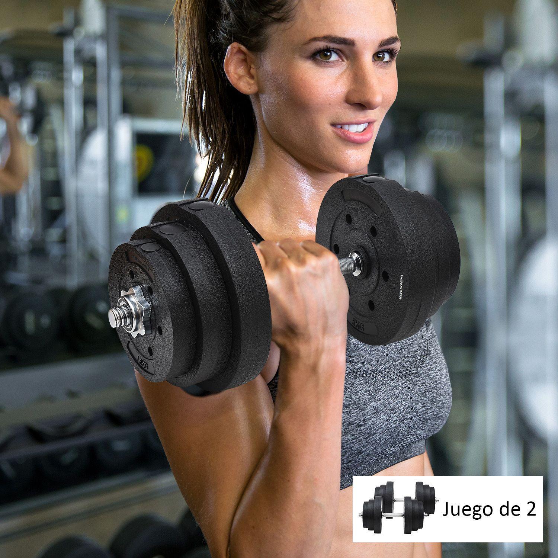 Jolitec Juego de Mancuernas de Fitness Ajustables