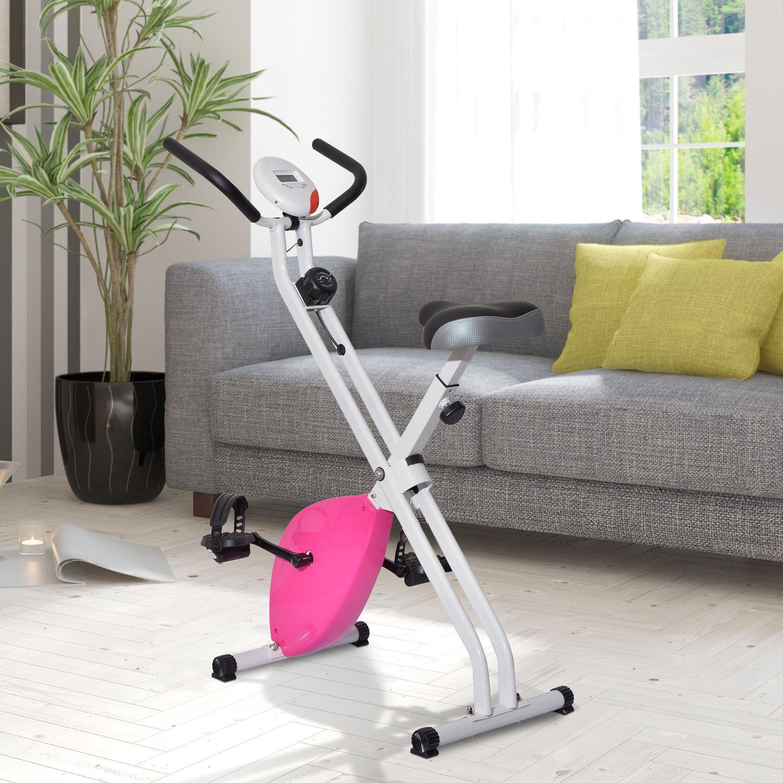 Bicicleta Estática de 8 niveles con Pantalla Digital para Fitness y Spinning
