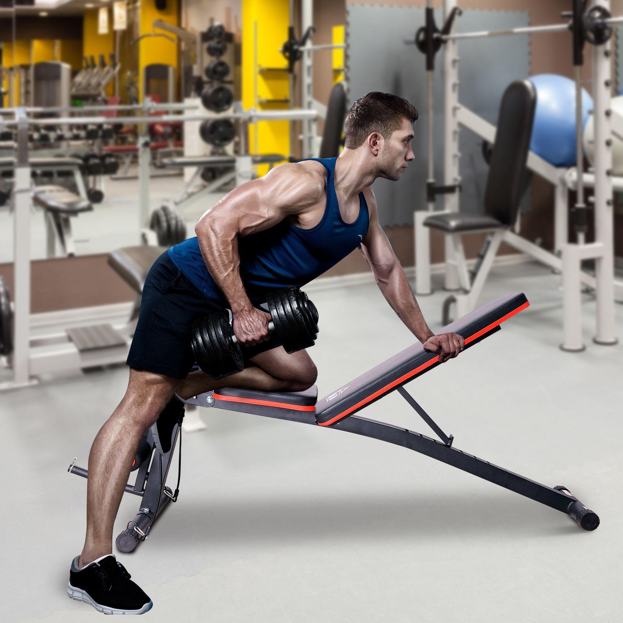 Jolitec® Banco de Mancuerna Plegable Máquina Musculación Multifuncional