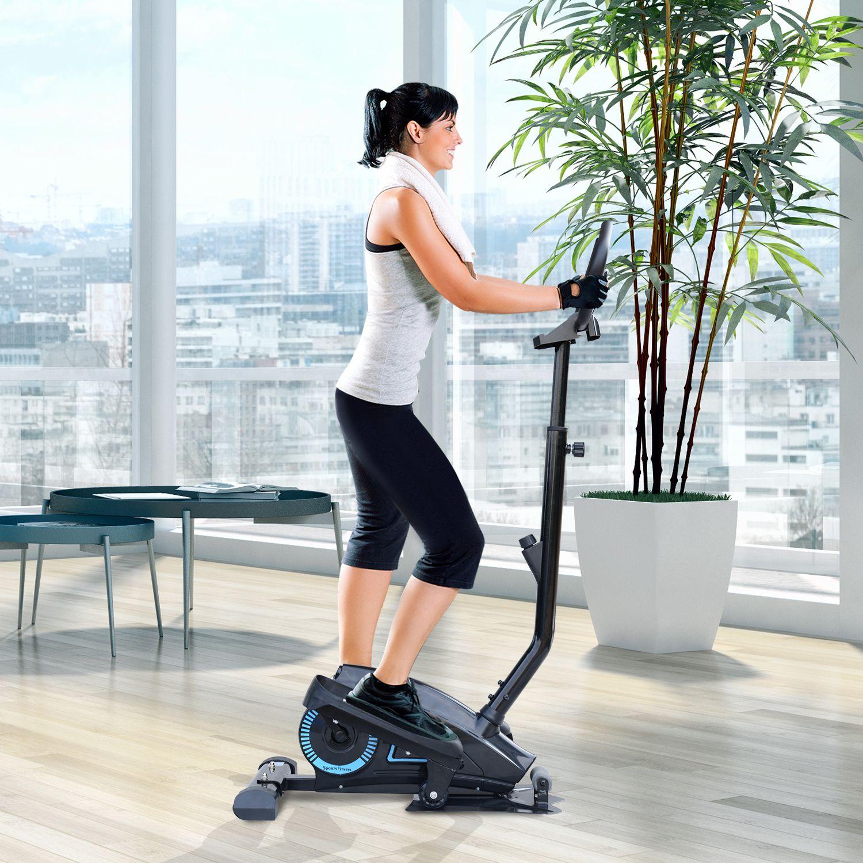 Jolitec® Bicicleta Elíptica Resistencia Ajustable Pantalla LCD Manillar Ajustable