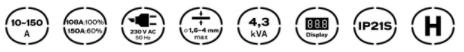 Características de Full Weld 150 Vito Pro-Power