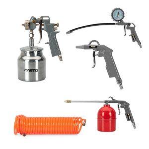 Air Kit para Aire Comprimido Profesional con cinco piezas