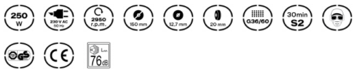 Características Esmeriladora Grinder High Quality 250 Vito Pro-Power