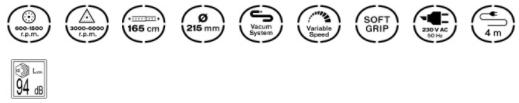 especificaciones técnicas de la Lijadora Clean Sander 600 Vito Pro-Power