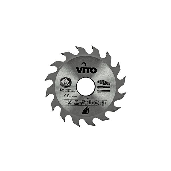 Disco Circular Pastillado para Madera Vito Pro-Power