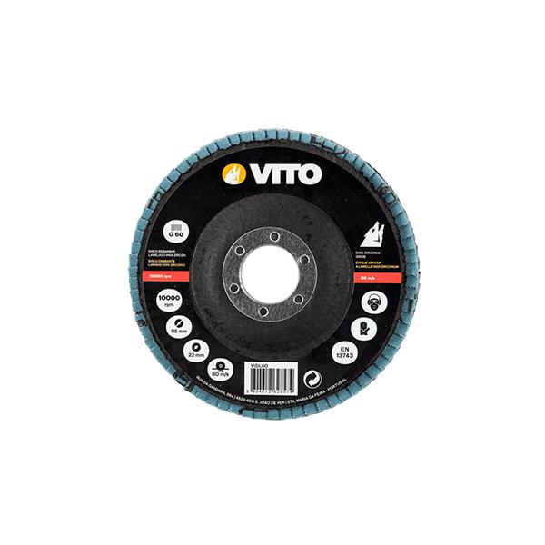 Disco Desbaste Laminado INOX Zirconio Vito Pro-Power