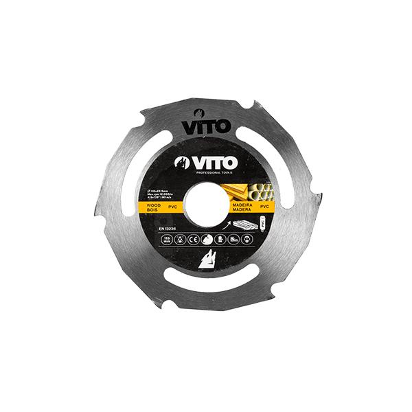 Disco de Corte Madera para Amoladora Vito Pro-Power