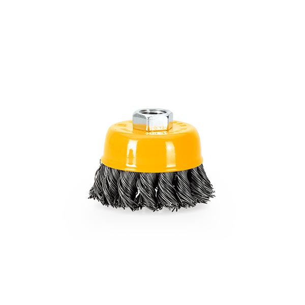 Cepillo Metálico de Copa Entrenzado Vito Pro-Power