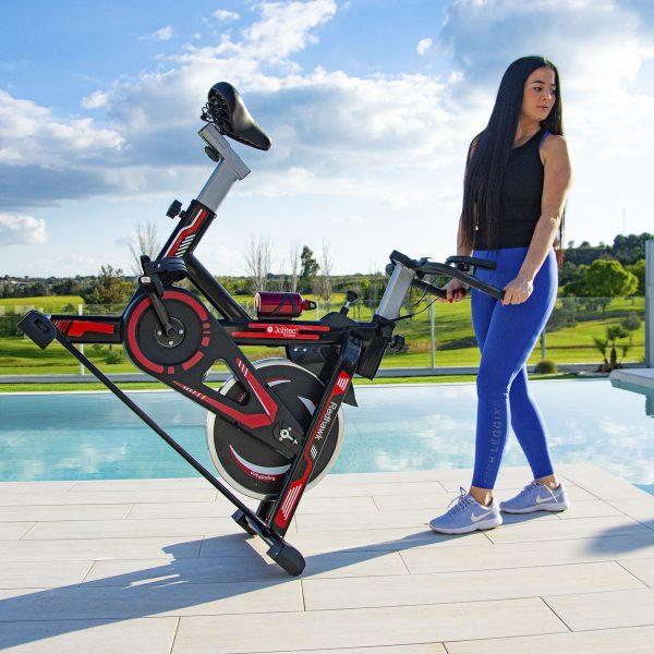 Bicicleta Spinning Red Hawk Plegable