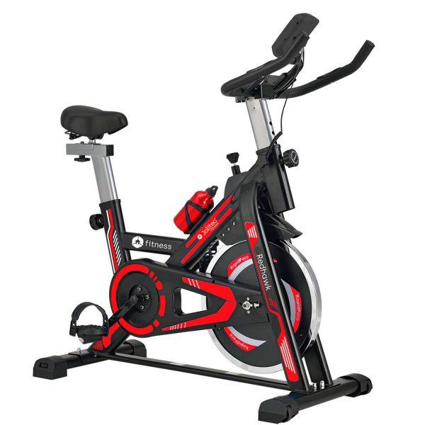 Bicicleta Spinning Red Hawk Jolitec con monitor