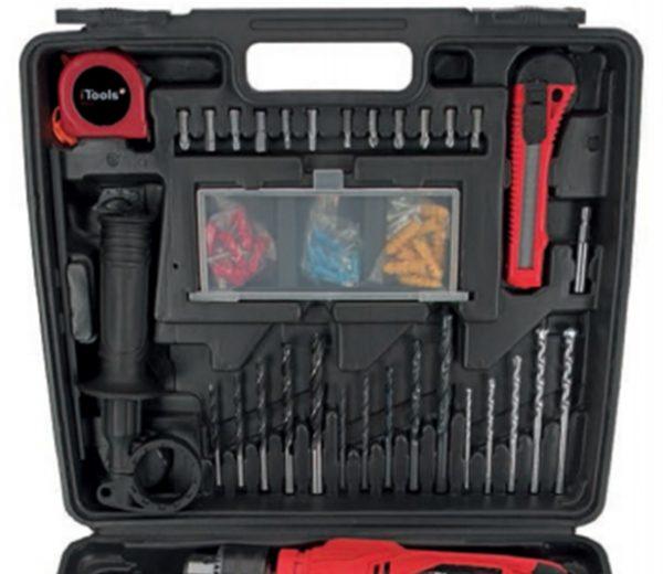 ITCB41A Caracteristicas del maletin del juego de taladro I-Tools