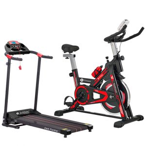 pack de Fitness Bicicleta Spinning Red Hawk y Cinta de andar Dark Panther