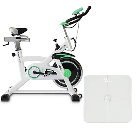 bicicleta spinning Extreme y báscula Surface 9500