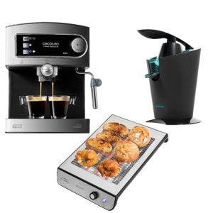 pack cafetera espresso + exprimidor de zumo + tostadora horizontal
