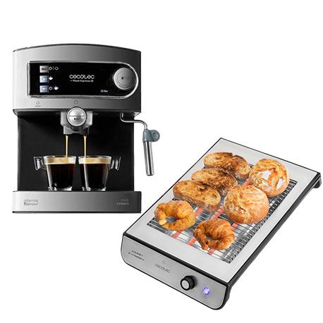 cafetera power espresso 20 y tostadora turbo easytoast