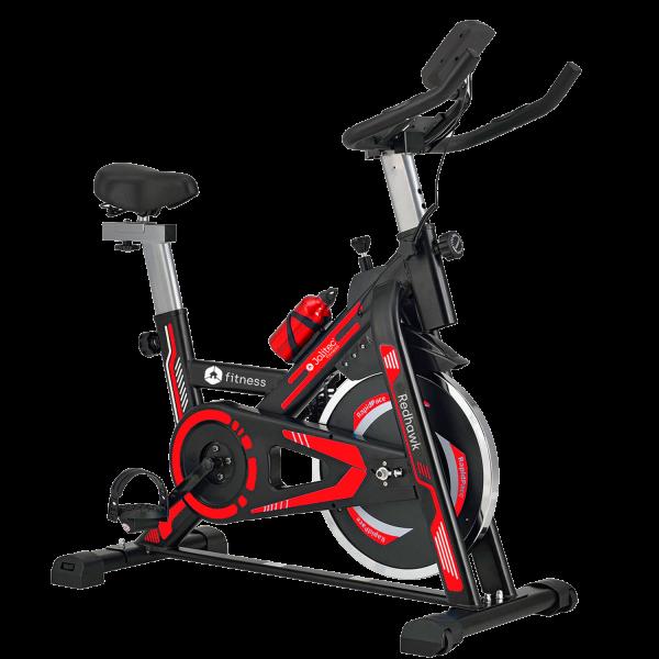 bicicleta spinning red hawk jolitec