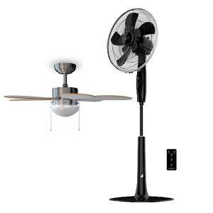 pack ventilador de techo aero 360 y ventilador de pie extreme connectec