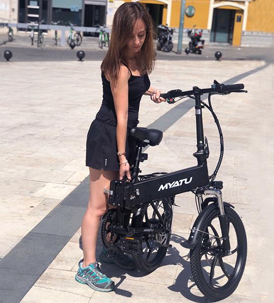 Bicicleta eléctrica plegable al mejor precio