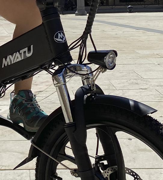 Bicicleta eléctrica con suspensión